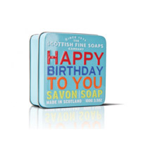 Scottish Fine Soaps - Soap in a Tin - Happy Birthday