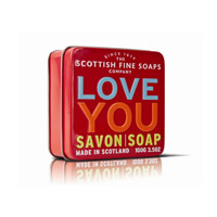 Scottish Fine Soaps - Soap in a Tin - Love you
